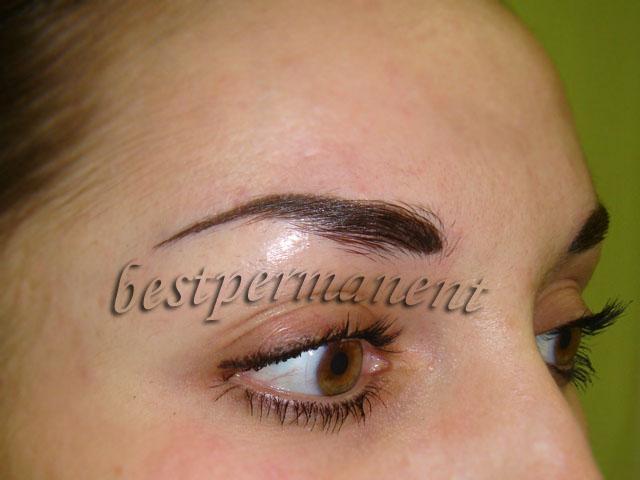 Фото на тему вреден ли волосковый татуаж бровей?